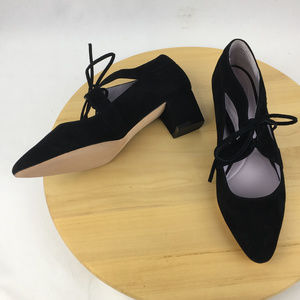Johnston & Murphy Black Suede Heels Pumps Size 7